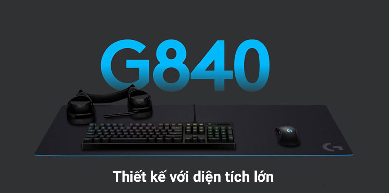 Miếng lót chuột Logitech G840 XL K/DA | Thiết kế với diện tích lớn