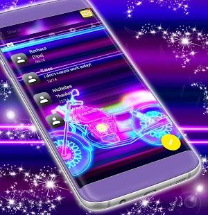 SMS Téma Neon Free Motocykl - náhled