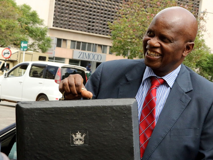Zimbabwean Finance Minister Patrick Chinamasa arrives to present the 2017 budget to Parliament in Harare. Picture: REUTERS