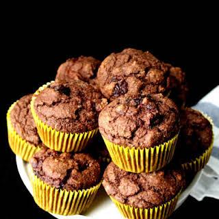 Vegan Chocolate Cherry Muffins.