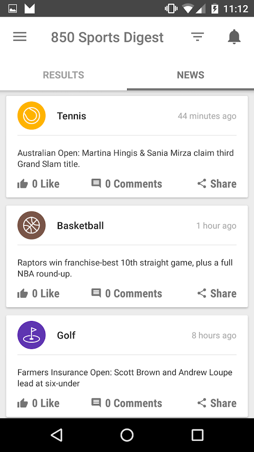 850 Sports News Digest- screenshot