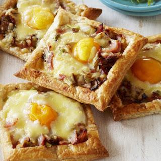 Leek, Bacon and Egg Tarts