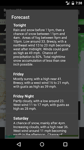 Radar Express - with NOAA Weather screenshot