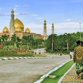 Golden Dome Kubah Emas Mosque, Depok, West Java by Krus Haryanto - Travel Locations Landmarks