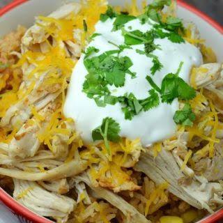 Instant Pot Chicken Taco Bowls.
