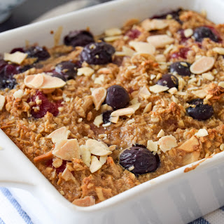 Chai Spiced Berry Baked Oatmeal.
