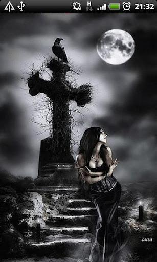 Gothic Girl Live Wallpaper