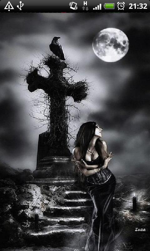 Gothic Girl Live Wallpaper- screenshot