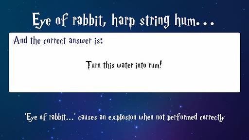 Trivia for Harry Potter Spells 1.0.1 screenshots 3