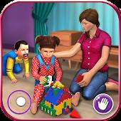 Unduh Virtual Mother New Baby Twins Family Simulator Gratis