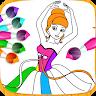 Princess Color Book Paint Art icon