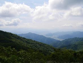 勝山市方面(奥に荒島岳)