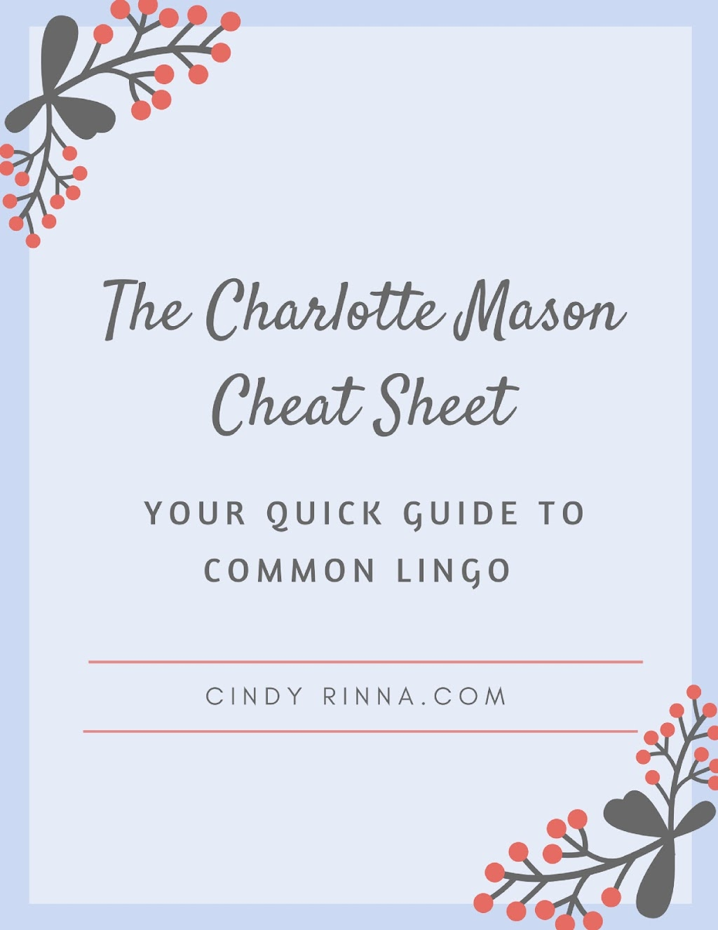 Charlotte Mason via Cindy Rinna.com