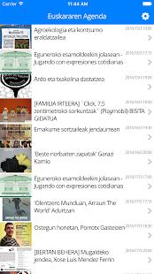 Euskararen Agenda: miniatura de captura de pantalla