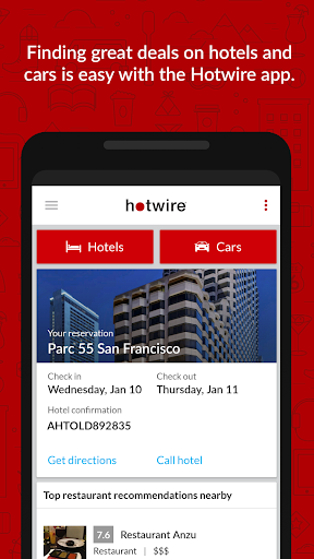 Hotwire Hotel & Car Rental App screenshot 1