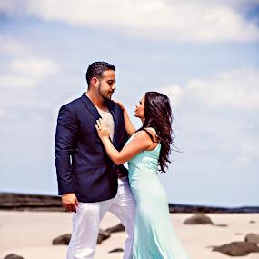 Beach Romance by Christie Lynn - Wedding Bride & Groom ( nicuragua wedding, photos by christie lynn, wedding, sunset wedding, destination wedding, beach, beauty )