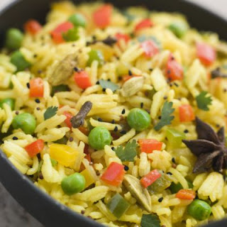 Healthy Yellow Rice Pilaf.