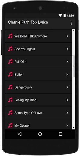 Download Charlie Puth Top Lyrics Google Play softwares