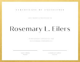 Outstanding Performance - Certificate item