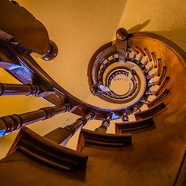 Upward Stair Spiral by Carl Albro - Buildings & Architecture Architectural Detail ( stairs, spiral, architecture )