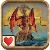 Jigsaw Solitaire - Dragons