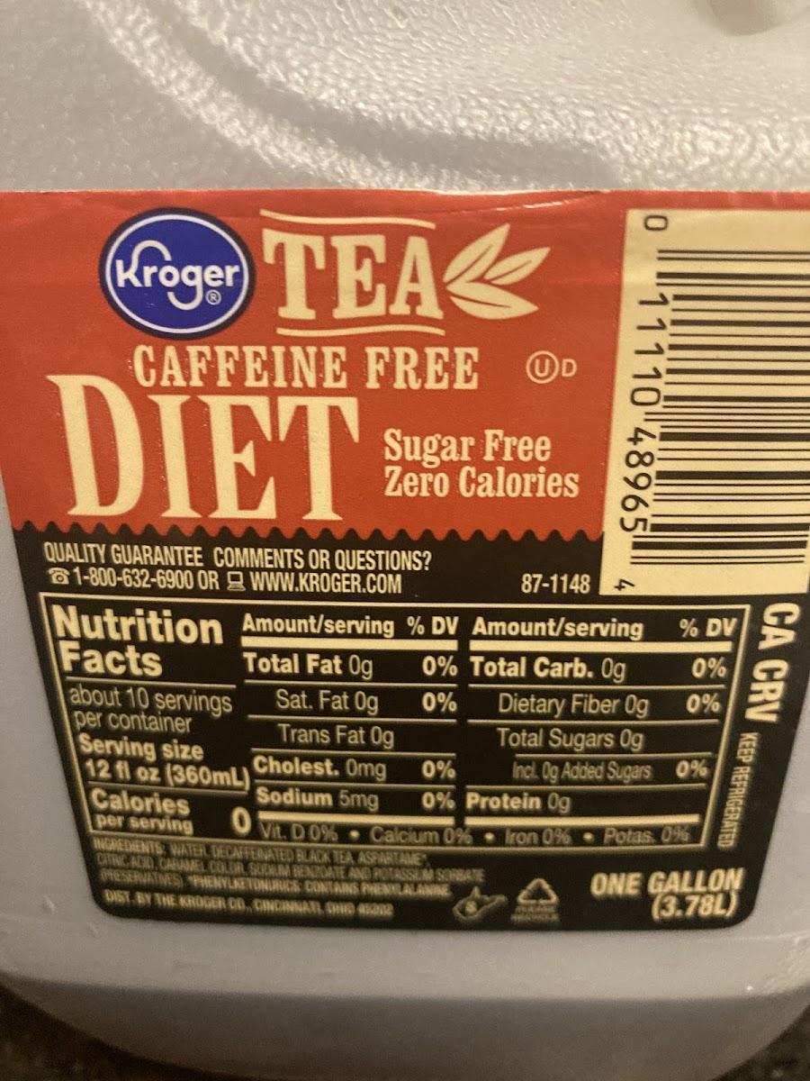Diet Caffine Free Tea