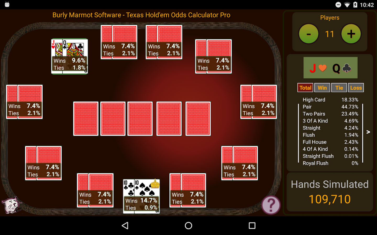 Texas holdem calculator software