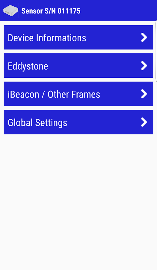 BlueBeacon Manager App- screenshot