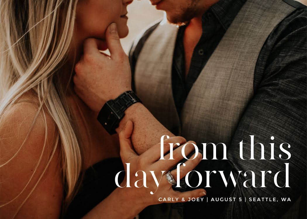 Carly & Joey's Wedding - Wedding Invitation Template