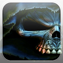 Evil Skull Fire Flames LWP icon