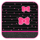 Pink Little Bow Live Wallpaper