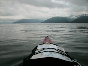 Photo: Heading across Taku Inlet toward Gastineau Channel and Juneau.