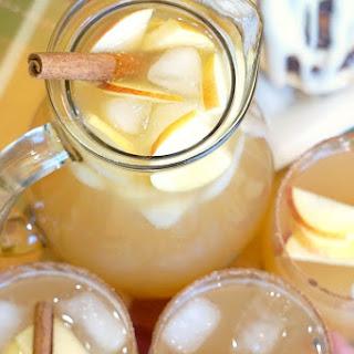 Chilled Sparkling Apple Cider.