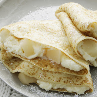 Pear and Coconut Crepes
