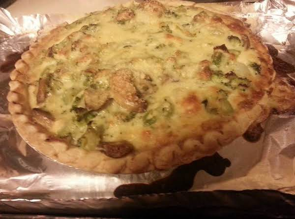 Broccoli Mushroom Quiche Recipe