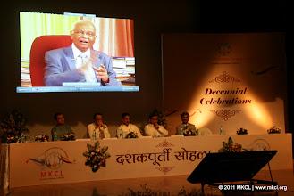 Photo: MKCL's 10th Anniversary Celebrations: Dr. Raghunath Mashelkar - Video Message