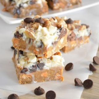 Seven Layer Bars with Gingerbread Crust.