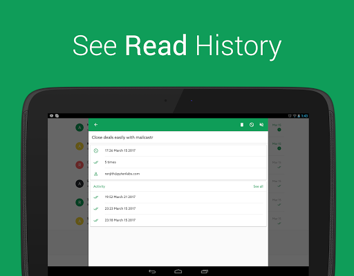Mailcastr- Read receipts for Gmail and Gsuite 2.0.39-2559b2e screenshots 6