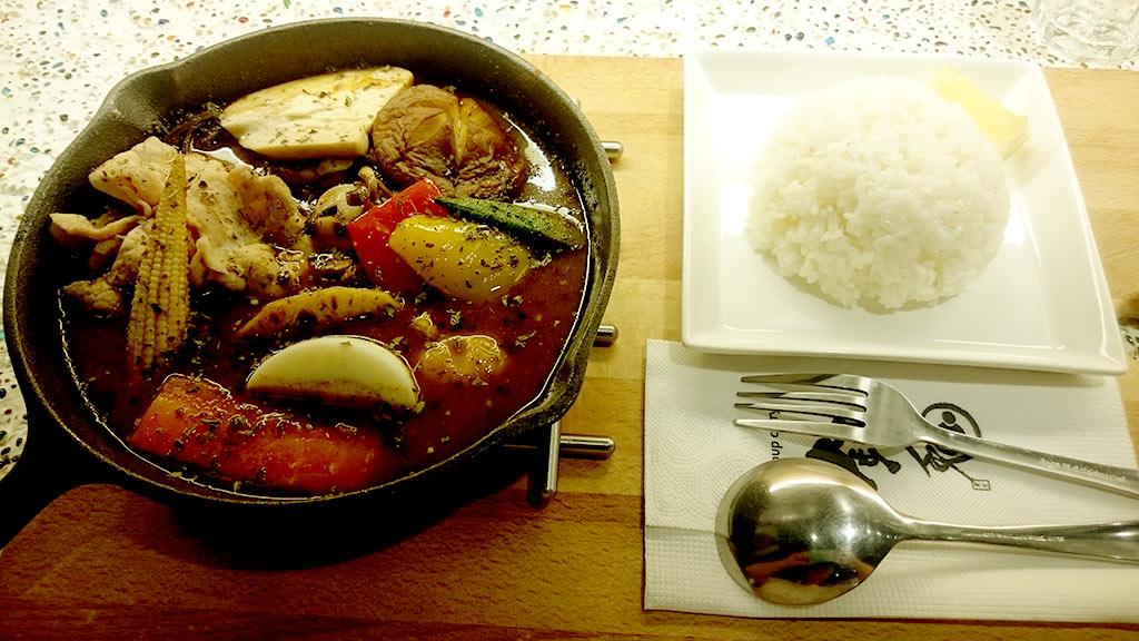 一番美人百菇咖哩加松柏豬肉片