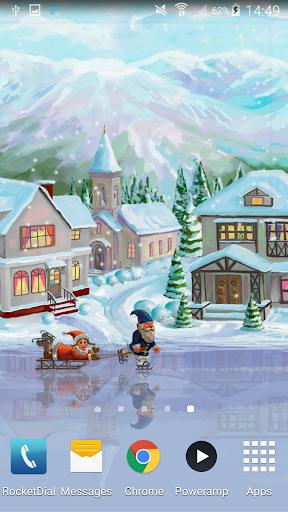 "Живые обои ""Christmas Rink Live Wallpaper"" для планшетов на Android"