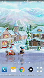 Christmas Rink Live Wallpaper Screenshot 2