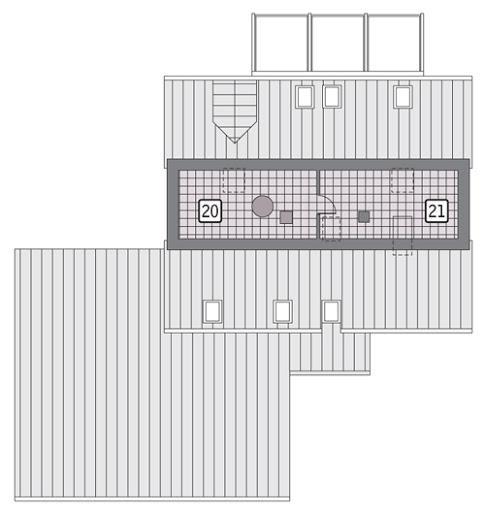 Dla pokoleń - z wentylacją mechaniczną - EC312 - Rzut strychu