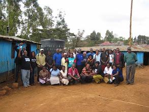Photo: The initial Gatina Pesa team - along with Paul Mwololo and Emma Onyango from Bangla-Pesa