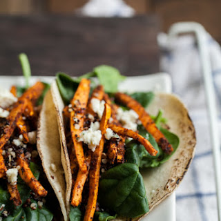 Crispy Quinoa and Mole Sweet Potato Tacos