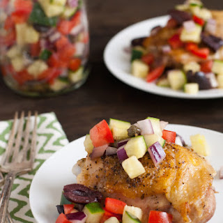 Roasted Chicken With Greek Salsa