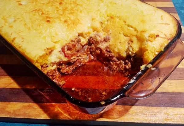 Simple Savory Tamale Pie Is Delicious Comfort Food On A Cold Winter Night!  This Scrumptious One Dish Meal Is Ready In Less Than An Hour And Will Feed A Hungry Family Of 6!