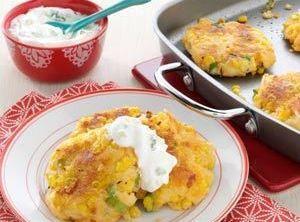 Potato Patties With Corn And Cheddar Recipe