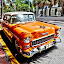 Florida Car by Ana Paula Filipe - Transportation Automobiles ( car, orange, old, florida, street,  )