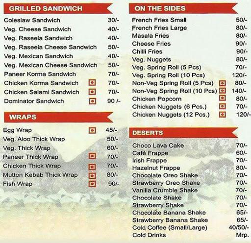 Burger Point menu 2