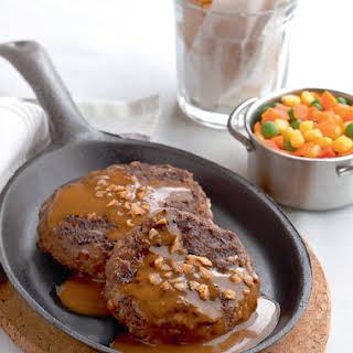 Sizzling Salisbury Steak.